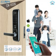 Digital door lock กลอนประตูดิจิตอล - Clavis CM-1100K (Main-lock รหัส+บัตร+Blue Tooth+กุญแจ+eKey) รองรับ air BNB