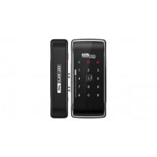 Digital door lock กลอนประตูดิจิตอล - Milre MI-260T (Glass-lock กระจกบานเปลือย รหัส+บัตร+remote set)