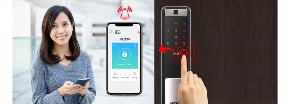 Digital door lock Samsung DP609 WiFi