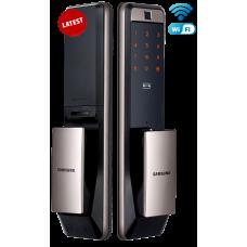 Digital door lock กลอนประตูดิจิตอล - Samsung SHP-DP609 (Main-lock รหัส+บัตร+สแกนนิ้ว+กุญแจ) WiFi