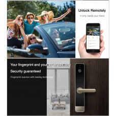 Digital door lock กลอนประตูดิจิตอล - Life Smart VDO Door phone (Main-lock รหัส+สแกนนิ้ว+กุญแจ+Application)