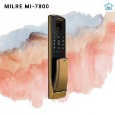Digital door lock กลอนประตูดิจิตอล - Milre MI-7800 (Main-lock รหัส+บัตร+สแกนนิ้ว+กุญแจ) Push Pull