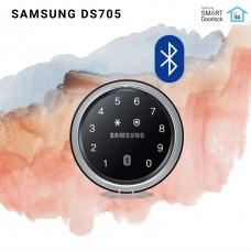 Digital door lock กลอนประตูดิจิตอล - Samsung SHP-DS705 (Sub-lock รหัส+บัตร+App Bluetooth)