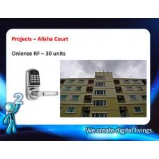 Digital door lock กลอนประตูดิจิตอล - Project: Alisha Court (30 units)