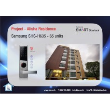 Digital door lock กลอนประตูดิจิตอล - Project: Alisha Residences (SHS-6020 / H635 , 65 units)