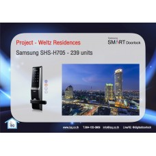 Digital door lock กลอนประตูดิจิตอล - Project: Weltz Residences (SHS-5230 / H705 , 239 units)