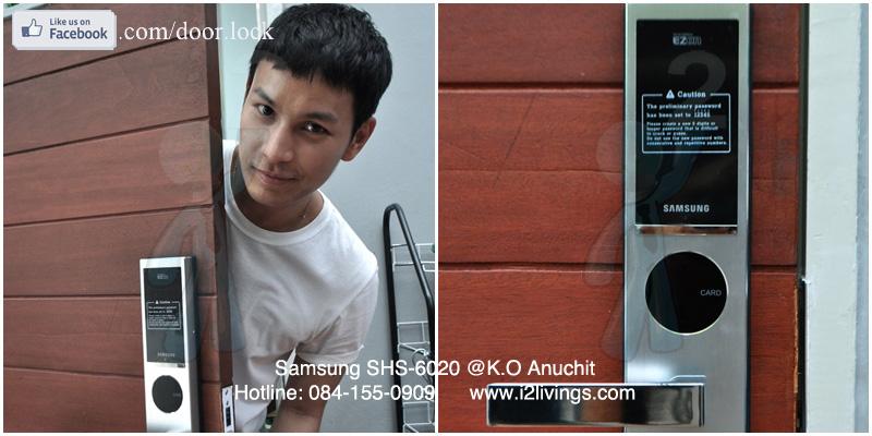 digital door lock  กลอนประตูดิจิตอล Samsung smart doorlock รุ่น SHS-6020 (H635) ของแท้ English version กุญแจ 5 ดอก_โอ อนุชิต