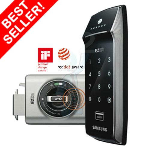Samsung smart doorlock รุ่น SHS-2320 (Shark) เป็นกลอนประตูดิจิตอล digital door lock รหัส+บัตร Best sell