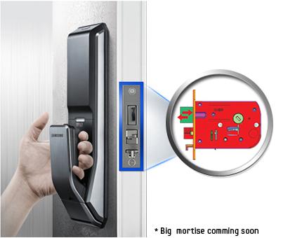 Samsung smart doorlock รุ่น SHS-P718 เป็นกลอนประตูดิจิตอล digital door lock New Push/Pull - New Handle design
