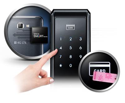 Samsung smart doorlock รุ่น SHS-P717 เป็นกลอนประตูดิจิตอล digital door lock รุ่นใหม่ล่าสุด Push/Pull - RFID NFC