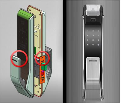 Samsung smart doorlock รุ่น SHS-P718 เป็นกลอนประตูดิจิตอล digital door lock New Push/Pull - New mortise system