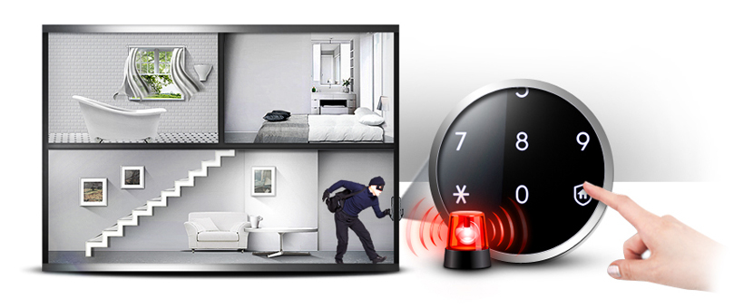 Samsung smart doorlock รุ่น SHS-P718 เป็นกลอนประตูดิจิตอล digital door lock New Push/Pull - Intruder prevention feature
