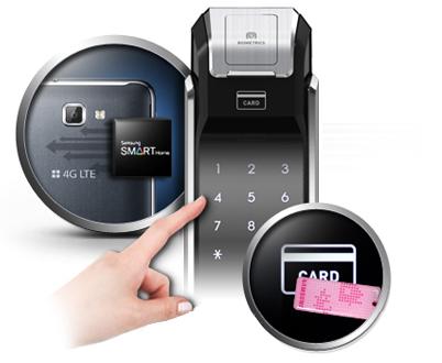 Samsung smart doorlock รุ่น SHS-P718 เป็นกลอนประตูดิจิตอล digital door lock New Push/Pull - RFID NFC Feature