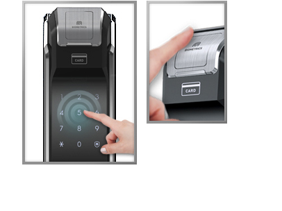 Samsung smart doorlock รุ่น SHS-P718 เป็นกลอนประตูดิจิตอล digital door lock New Push/Pull - New Biometric Finger scan sensor