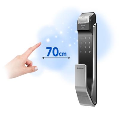 Samsung smart doorlock รุ่น SHS-P718 เป็นกลอนประตูดิจิตอล digital door lock New Push/Pull - Welcome mode