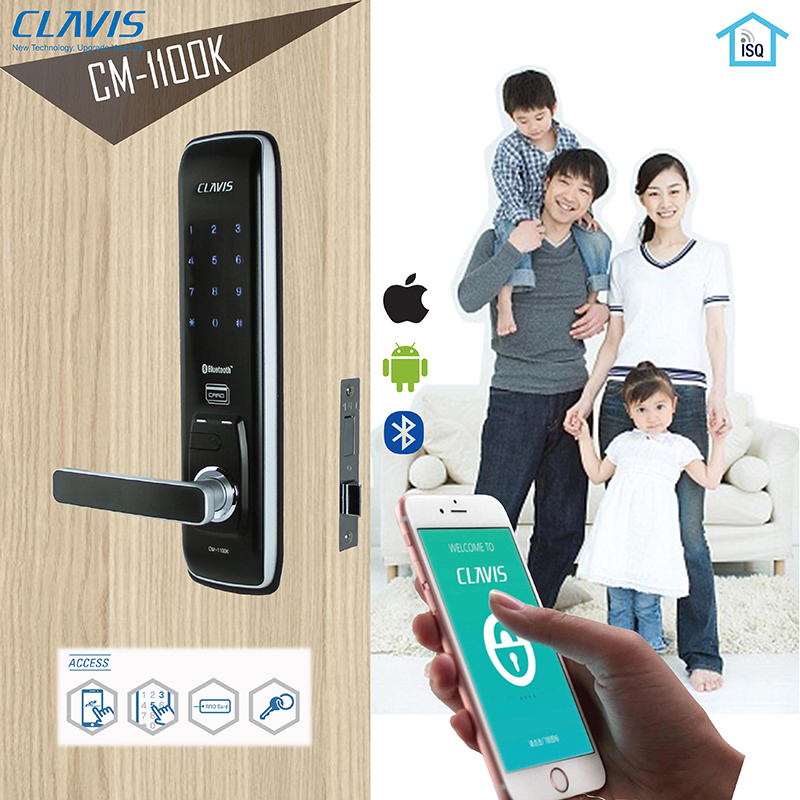 ล็อคประตูระบบดิจิตอล ควบคุมการเปิด-ปิดผ่านมือถือ Clavis CM-1100K