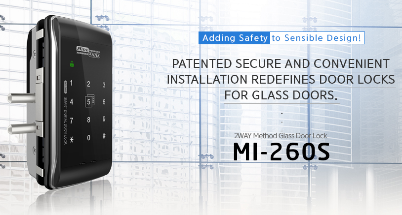 Milre MI-260 glass digital door lock