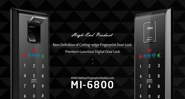 ล็อคดิจิตอล กลอนประตูอัจฉริยะ Milre MI6800 รหัส บัตร สแกนนิ้ว กุญแจ