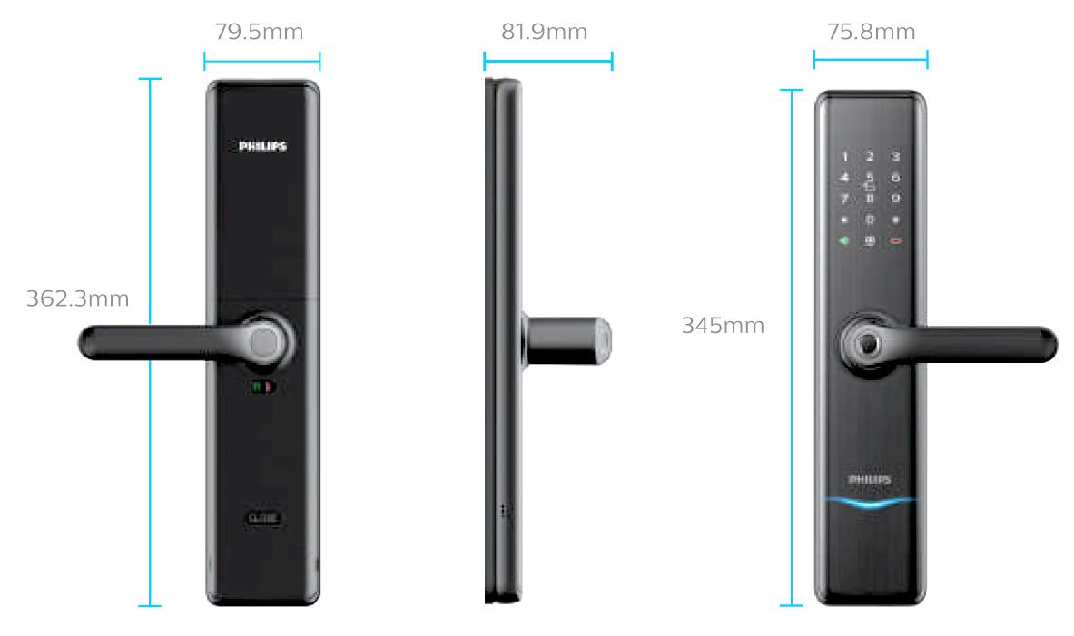 กลอนดิจิอล Philips Easy Key 7300