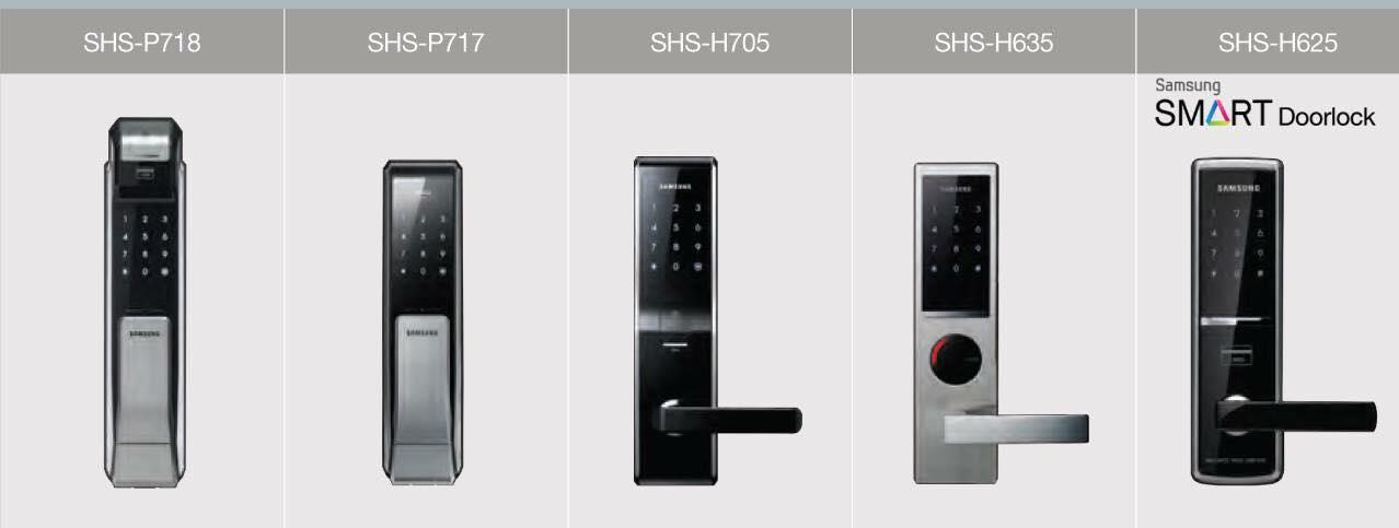 กลอนประตูดิจิตอล Samsung Smart Doorlock Mainlock