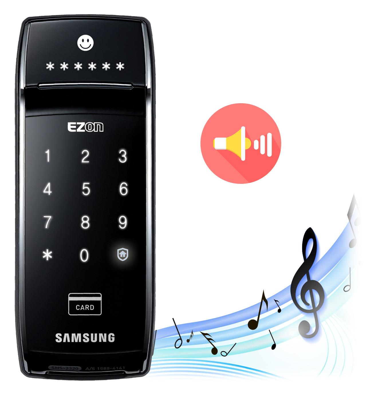 กลอนประตู ล็อคระบบดิจิตอล Samsung ซัมซุง SHS-2320 บานเลื่อน