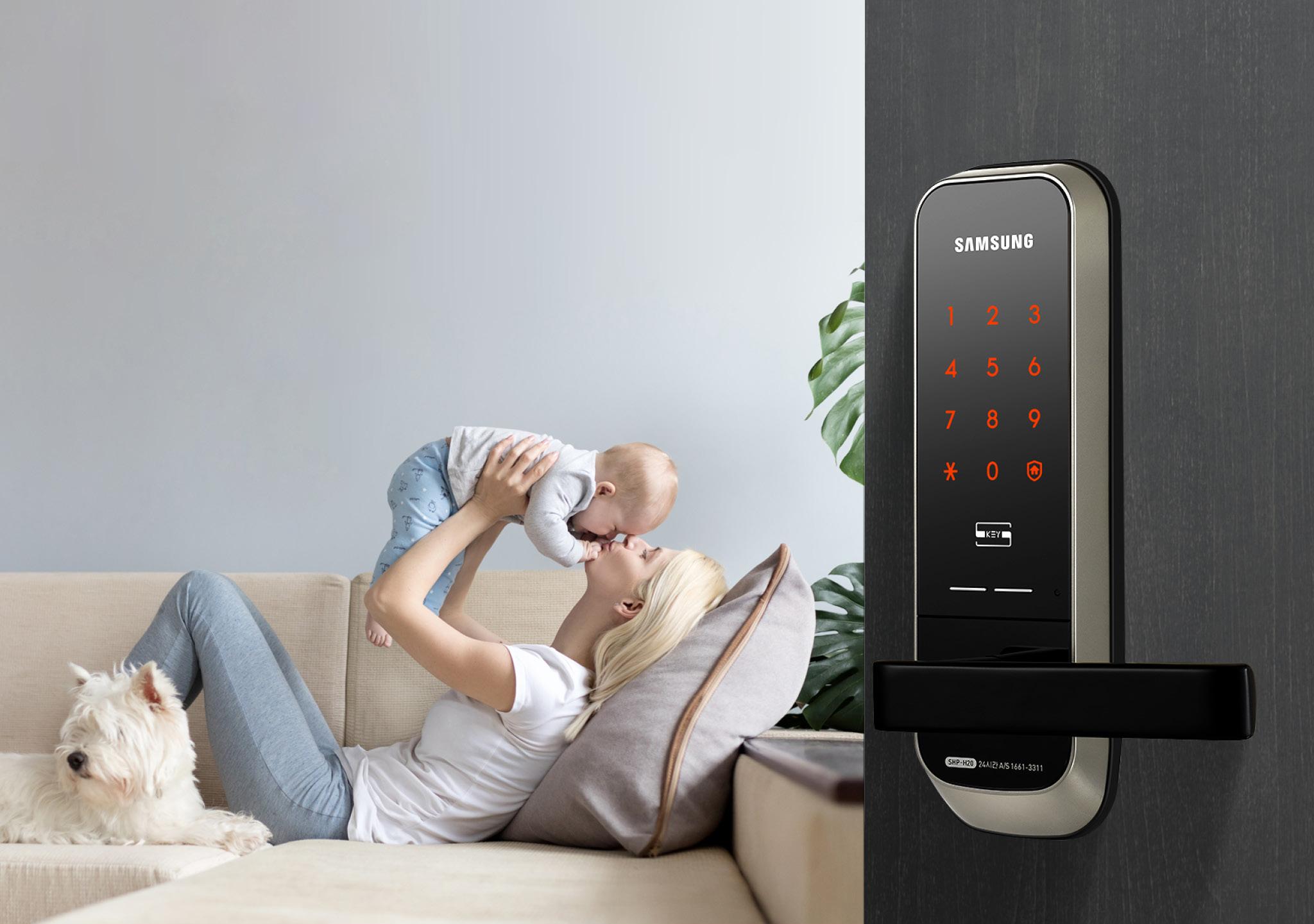 Samsung smart doorlock รุ่น SHP-H20 กลอนประตูดิจิตอล digital door lock รหัส+บัตร Best sell