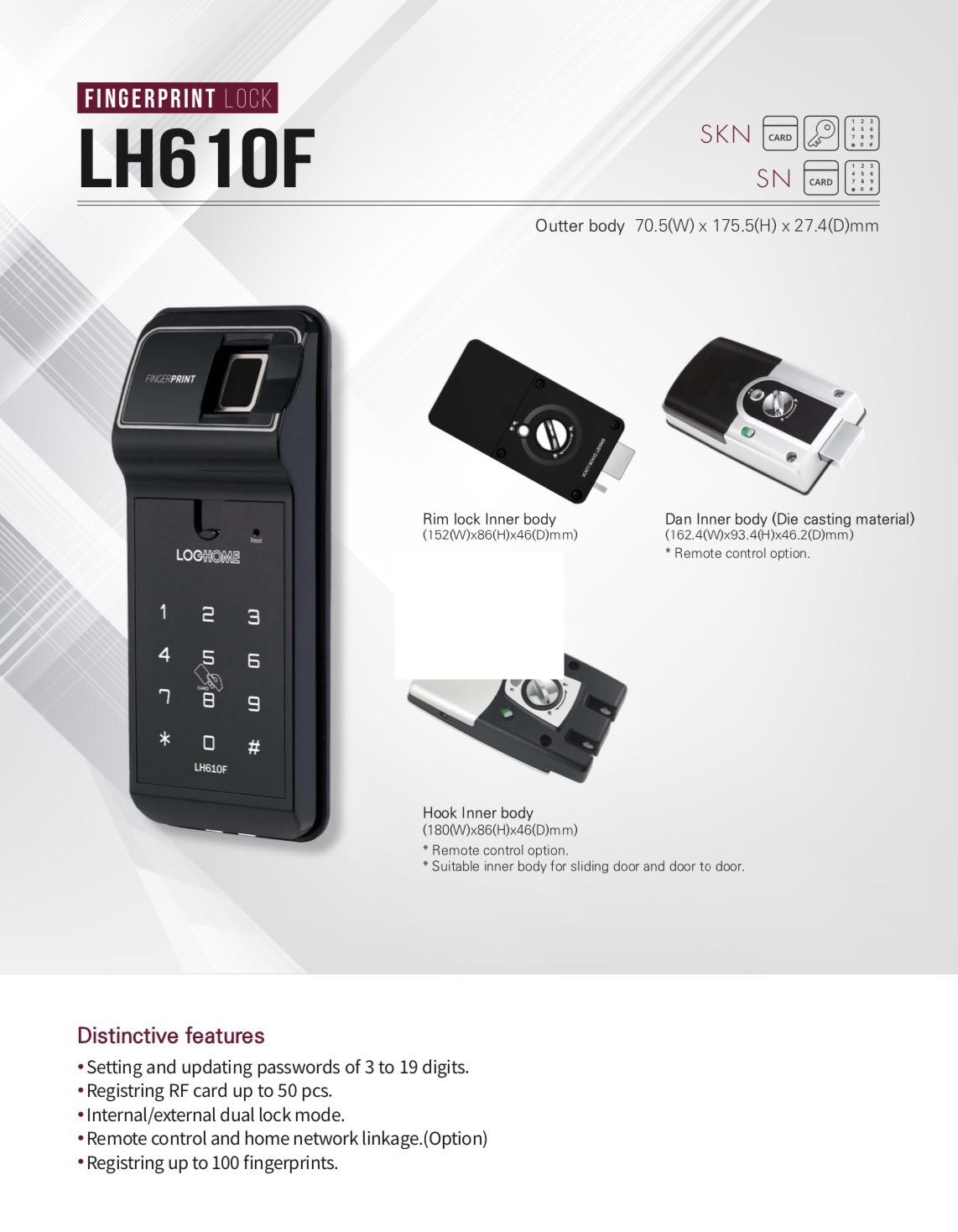 กลอนประตูดิจิตอล digital smart lock Loghome
