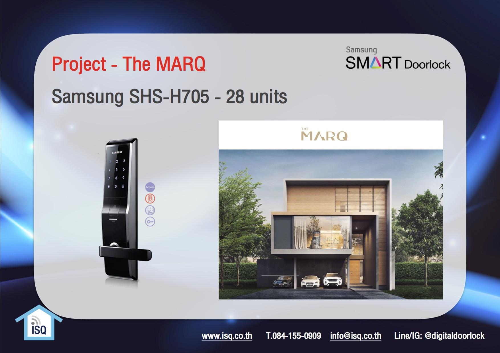 ผลงานโครงการ digital door lock กลอนประตูไฟฟ้า The Marq EnRich