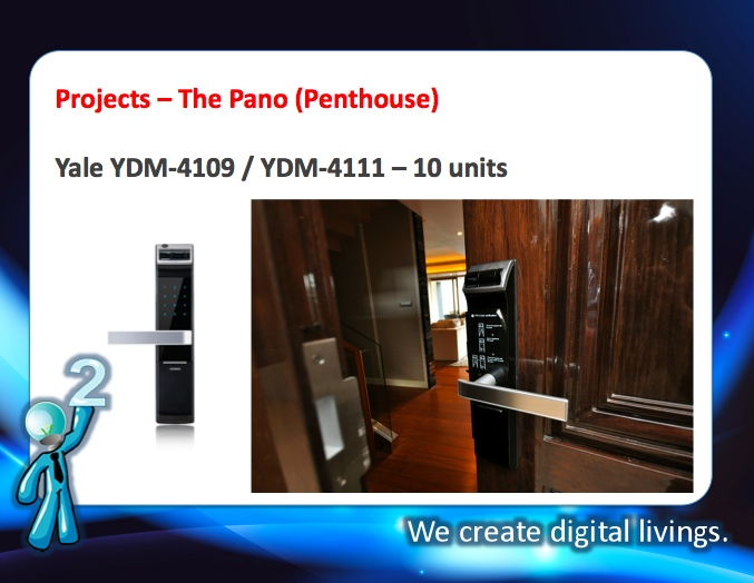 digital door lock กลอนประตูดิจิตอล Project Pano Rama3 Yale YDM-4109 YDM-4111 Penthouse
