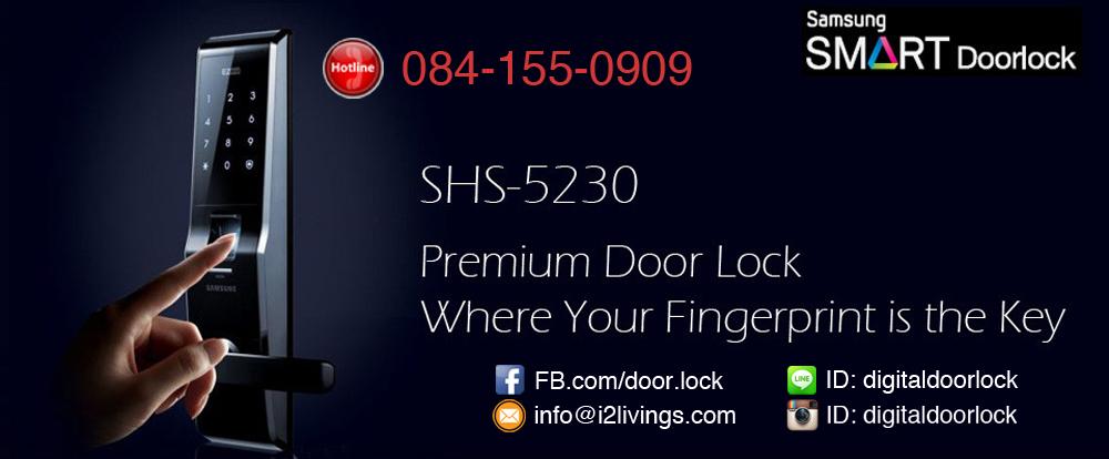 Digital door lock กลอนประตูดิจิตอล Samsung SHS-5230 (H705) ของแท้ English version กุญแจ 5 ดอก